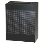 Rubbermaid FGSR18EPLTBK 22.5-gal Indoor Decorative Trash Can - Metal, Black