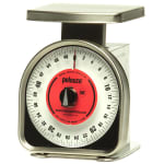 Rubbermaid FGYG450R Pelouze Portion Scale - Dial Type, Blue Lens, 50-lb x 4-oz, Enamel/Stainless