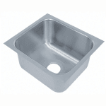 "Advance Tabco 1620A-12 (1) Compartment Undermount Sink - 16"" x 20"""