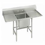 """Advance Tabco 9-21-20-18RL 58"""" 1-Compartment Sink w/ 20""""L x 20""""W Bowl, 12"""" Deep"""