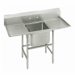 "Advance Tabco 9-21-20-24RL 70"" 1-Compartment Sink w/ 20""L x 20""W Bowl, 12"" Deep"