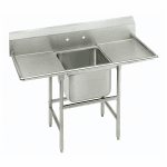 """Advance Tabco 93-41-24-24RL 74"""" 1 Compartment Sink w/ 24""""L x 24""""W Bowl, 12"""" Deep"""