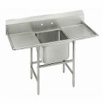 """Advance Tabco 93-41-24-36RL 98"""" 1 Compartment Sink w/ 24""""L x 24""""W Bowl, 12"""" Deep"""