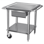 "Advance Tabco AG-MP-30 30"" Mixer Table w/ Galvanized Undershelf Base & Corner Bumpers, 24""D"