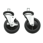 "Advance Tabco EC-26 5"" Stem Caster Set - (4) Swivel & (2) Brakes"