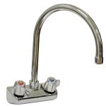 "Advance Tabco K-60 Gooseneck Faucet, Splash Mount, 4"" Center"