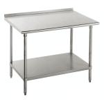 "Advance Tabco SFG-245 60"" 16 ga Work Table w/ Undershelf & 430 Series Stainless Flat Top"
