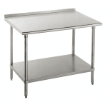 "Advance Tabco SFG-3011 132"" 16 ga Work Table w/ Undershelf & 430 Series Stainless Flat Top"