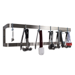"Advance Tabco SW-108 108"" Wall-Mount Pot Rack w/ (18) Double Hooks, Stainless Steel"