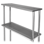"Advance Tabco PRDO-44 44"" Double Table Mounted Overshelf for Large Station, Stainless"