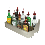 """Advance Tabco SRKD-42 42"""" Double Tier Bottle Rack w/ Keyhole, Stainless"""