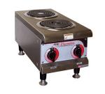 """APW EHPI 14"""" Electric Hotplate w/ (2) Burners & Infinite Controls, 240v/1ph"""