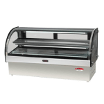 "Bakemax BMCRD10 60"" Full Service Deli Case w/ Curved Glass - (2) Levels, 110v"