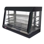"""Bakemax BMCSC05 35"""" Self-Service Countertop Heated Display Case w/ Straight Glass - (3) Shelves, 110v"""