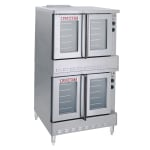 Blodgett SHO-100-G Doube Full Size Natural Gas Convection Oven - 100,000 BTU