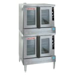 Blodgett ZEPH-200-G-ES DBL Zephaire Double Deep Depth Gas Convection Oven - LP
