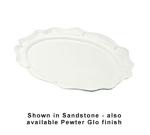 """Bon Chef 2029S WH Oval Platter, 16.75 x 22"""", Aluminum/White"""