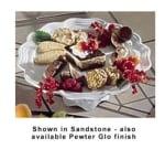 "Bon Chef 20679058S BLK 13"" Pedestal Platter, Aluminum/Black"