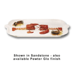 "Bon Chef 2069P Shell Handle Platter, 22 x 32"", Aluminum/Pewter-Glo"