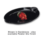 "Bon Chef 2074S WH 22.5"" Shell Handle Platter, Aluminum/White"