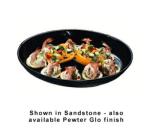 "Bon Chef 2076S WH 15"" Oval Coupe Platter, Aluminum/White"