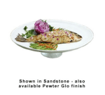 "Bon Chef 20779059S WH 20"" Oval High Pedestal Coupe Platter, Aluminum/White"