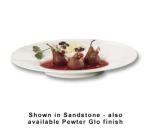 "Bon Chef 2090S BLK Wide Rim Platter, 19.5 x 15.75"", Aluminum/Black"