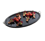 """Bon Chef 2700HRSSS WH 33"""" Chef Platter, Stainless Round Handle, Aluminum/White"""