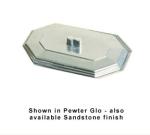 Bon Chef 5068CP 2-qt Cover, Octagon Bouillabaisse Dish, Aluminum/Pewter-Glo