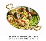 Bon Chef 5100S BLK 2.63 qt Round Paella Dish, Aluminum/Black