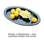 "Bon Chef 5110P 17-3/8"" Oval Casserole Dish, Aluminum/Pewter-Glo"