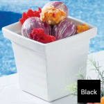 Bon Chef 53108 1 qt 24 oz Square Bowl,  Melamine/Black