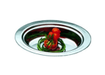 """Bon Chef 5399HLSS Full Oval Food Pan, Long Stainless Handle, 3.5"""" Deep, Heavy Gauge"""