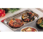 "Bon Chef 5407 Full Size Food Pan, 1.25"" Deep, Laurel, Stainless"