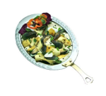 """Bon Chef 5699HLSS 6.1-qt Oval Food Pan, Long Stainless Handle, 3.5"""" Deep, Arches, Heavy Gauge"""