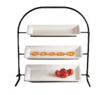 Bon Chef 7002S WH Wire Display Stand, Aluminum/White