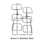 Bon Chef 7011S WH 2-Part Short Condiment Display Stand For (6) 9110, White
