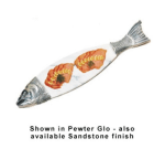 "Bon Chef 9004MS BLK 36"" Marble Body Salmon Dish, Aluminum/Black"