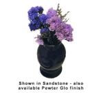 """Bon Chef 9021S WH 4.25"""" Vase, Aluminum/White"""