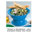 Bon Chef 90539062S BLK 6.5-qt Pedestal Bowl, Aluminum/Black