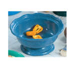 Bon Chef 90621038S TANG 2-qt Pedestal Bowl, Aluminum/Tangerine