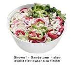 Bon Chef 9069S SMGR 6-qt Tulip Bowl, Aluminum/Smoke Gray