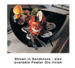 "Bon Chef 90809106S WH 11.5"" Triangle Pedestal Plate, Aluminum/White"