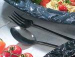 Bon Chef 9086P Salad Serving Fork, Aluminum/Pewter-Glo