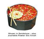 Bon Chef 9096S BLK 6.5-qt Flat Bottom Crock Bowl, Aluminum/Black