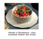 Bon Chef 91419097P 5.38-qt Soup Bowl Crock w/  Collar, Aluminum/Pewter-Glo