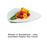 "Bon Chef 9162P 24"" Triangle Serving Plate, Aluminum/Pewter-Glo"