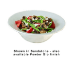 "Bon Chef 9170S BLK 11.75"" Wide Rim Bowl, Aluminum/Black"