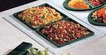 Bon Chef 960029501S BLK Custom Cut Tile Tray for (2) 9501, Aluminum/Black