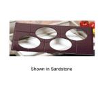 Bon Chef 9600H49013S WH Custom Cut Tile Tray for (4) 9013, Aluminum/White